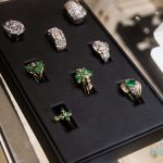 light green gemstone rings